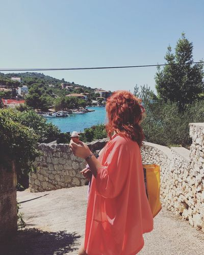 Enjoying the view Croatia Home Razanj Village Sea Love Nostalgia Redhead