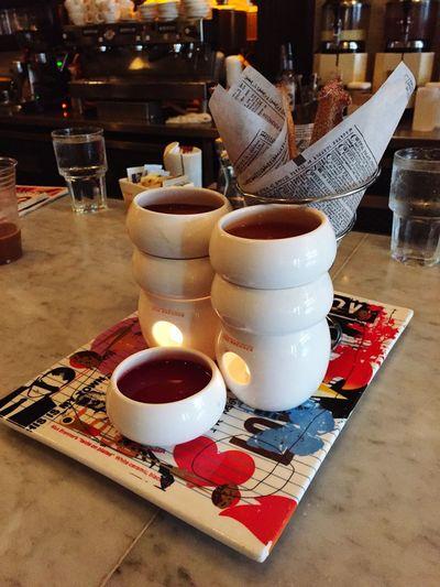 Chocolate Fondue Maxbrenner Caramel Raspberry Churro Dessert Yum Boston 😍