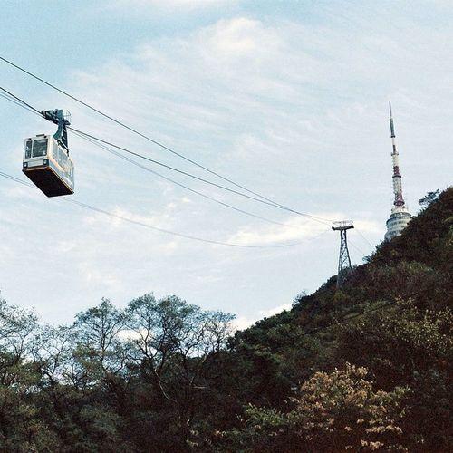 Korea Seoul Mountain Cablecar Trip Travel Nikon NikonFM2 Nofilter Kodak Kodakfilm Film Filmstagram Filmphotography 35mm Sky