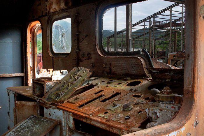 Decay Locomotive Train Abandoned Rust Control Panel Lost Jungle Trainyard Forgotten Africa Liberia