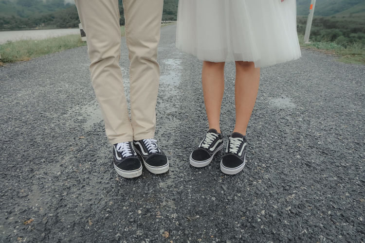 wedding Low Section Human Leg Human Body Part Real People Women People Fashion Adult Togetherness Day Lifestyles Love Positive Emotion Couple - Relationship Outdoors Human Foot Wedding Wedding Photography