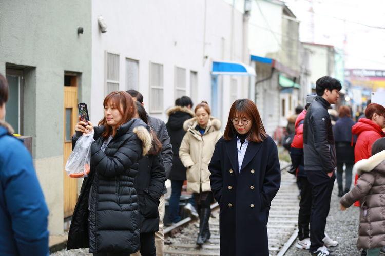 Cold Korea People Railroad Real People Winter Women