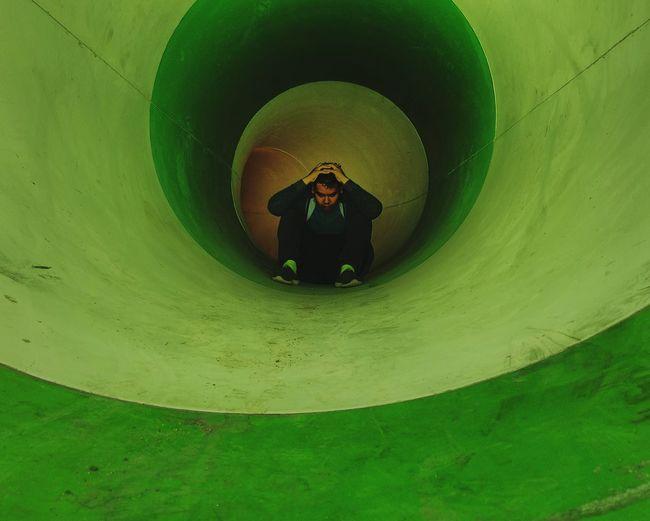 crazy wherever Crazy Stress Child Childhood Adventure Green Color Slide - Play Equipment Water Park Slide The Street Photographer - 2018 EyeEm Awards