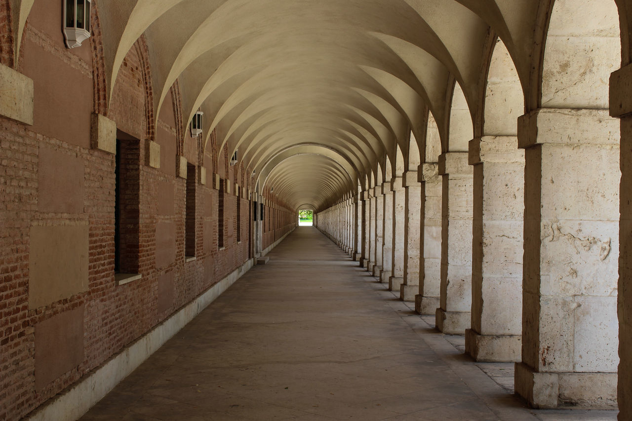 Low Angle View Of Colonnade
