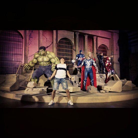 不小心亂入復仇者2的場景😲 Marvel Avengers 浩克 鷹眼 Ironman 雷神索爾 美國隊長
