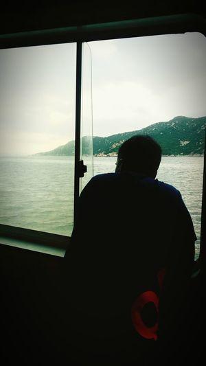 I love you. Relaxing Husband ♡ Window Island Ferry Views Serenity