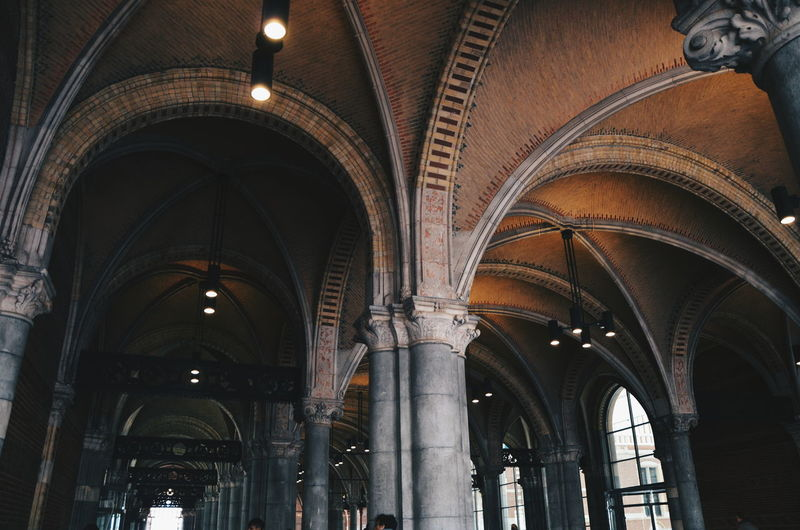 Amsterdam Arcade Arch Arched Architectural Column Architectural Feature Architecture Built Structure Europe Gothic Style History Traveling VSCO Vscocam