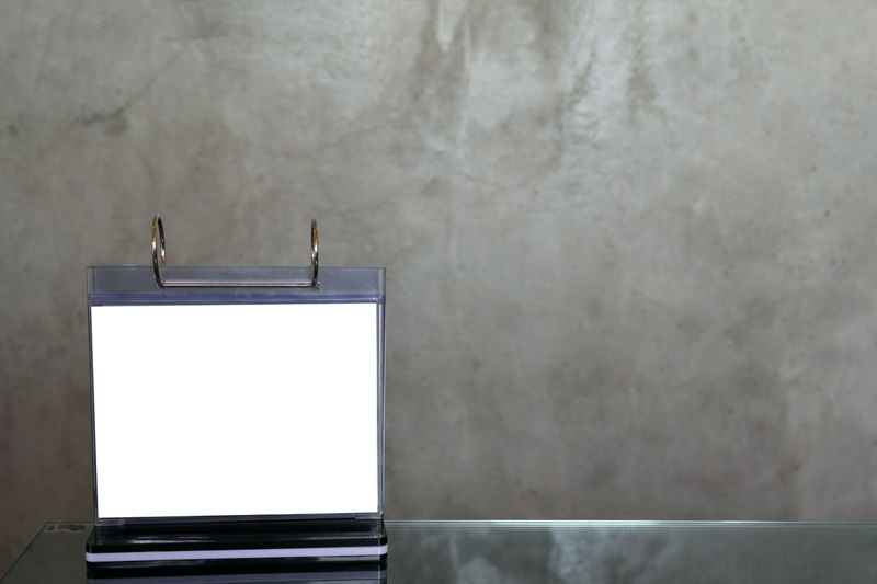 Advertisement Architecture Backgrounds Blank Business Communication Concrete Copy Space Empty Frame Front View Indoors  Marketing No People Panoramic Picture Frame Screen Table Technology Wall - Building Feature White Color