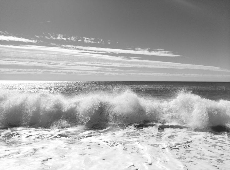 Caldetes Beach Platja Caldes D'estrac MarMediterraneo Mediterranean Sea Onades Playas Y Olas Black And White Blackandwhite Photography Black&white