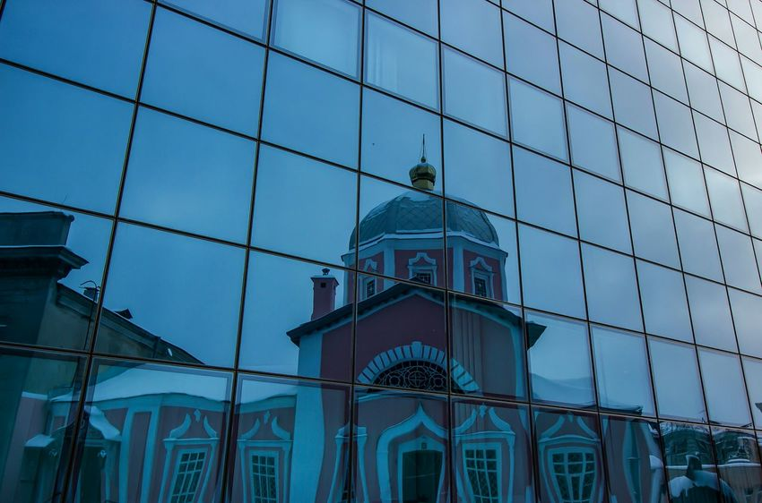 Курск City Travel Kursk Russia Kursk Region, Kursk Church Reflection Minimalism Minimal HDR VSCO Day Steel Cable No People Business Finance And Industry Tourism Outdoors Travel Destinations Sky Low Angle View Skyscraper Architecture Building Exterior
