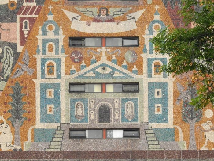 Angels Sun And Moon Mural Part Church Representation Architecture History Building Exterior Built Structure No People Outdoors Day
