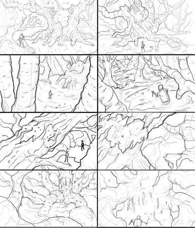 Conceptart Sketch Swamp Illustration Digital Art Digital Painting Art, Drawing, Creativity Sketch_dailies Drawings sketchs for my next piece