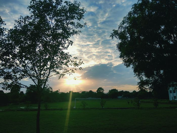 Free Chill time Soccer Field Playing Field Sunset Beauty In Nature Nature Outdoors The Great Outdoors - 2017 EyeEm Awards