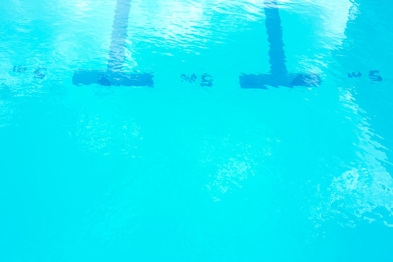 Full frame shot of turquoise swimming pool
