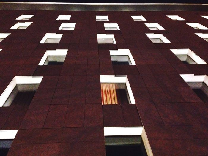 Learn & Shoot: After Dark Night Night Lights Nightphotography Hotel Hotels Window Windows Symmetry Geometry Geometric Shapes Urban Geometry Building Exterior The Architect - 2016 EyeEm Awards