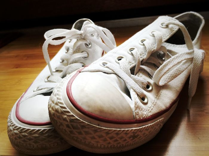 Light And Shadow Converse White Laces Shoe Shoes Still Life Inanimate Objects Two Is Better Than One