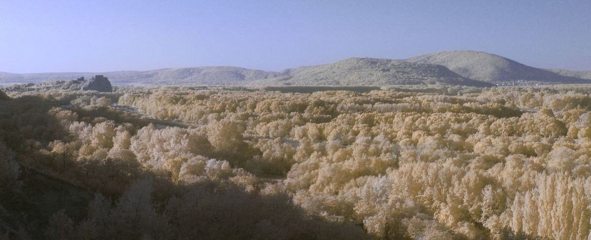 True infrared panorama Infrared Panorama Beauty In Nature Day High Angle View Infrared Photography Landscape Mountain Mountain Range Nature No People Outdoors Scenics Sky Tranquil Scene Tranquility Castle Ruin Castle Devin Castle Devin