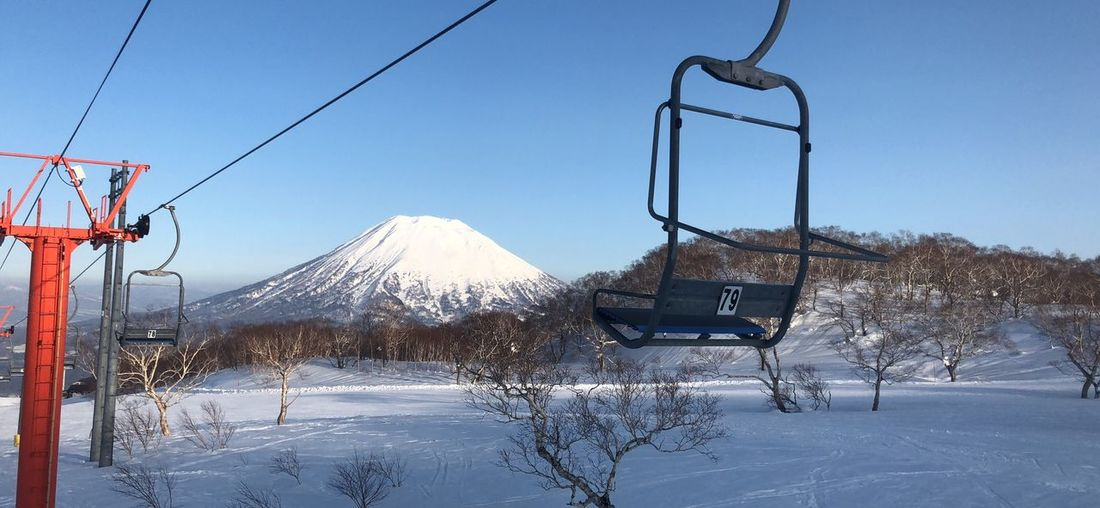 Japan Photography Japan Rift Powder Snow Japow Niseko Hokkaido Skiing Wintersports Winter Snow Cold Temperature Winter Sky Nature Day No People Mountain Scenics - Nature Clear Sky Beauty In Nature Outdoors Snowcapped Mountain Covering Frozen White Color Snowing