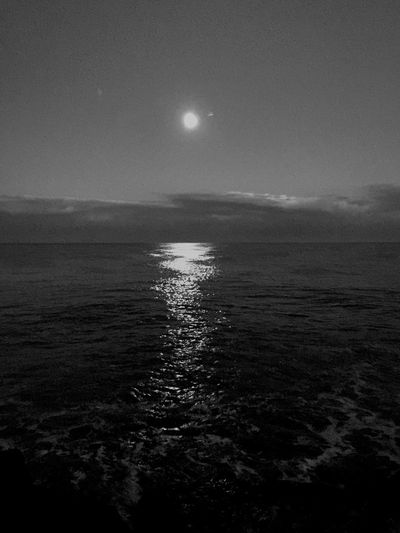 Rimini Moon Sea B&w Night Water Horizon Over Water No People Nature Outdoors