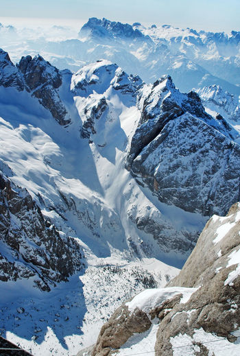 High Angle View Of Mt Marmolada