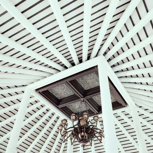 Pattern Architecture Built Structure Ceiling Indoors  Low Angle View Modern Day No People Architectural Design