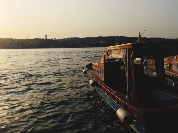 Transportation Mode Of Transport Nautical Vessel Water Outdoors Nature Clear Sky No People Sky Day Architecture Cityscape Bosphorus Bosphorus, Istanbul EyeEm Selects Istanbul City The Week On EyeEm The Week On EyeEm Connected By Travel