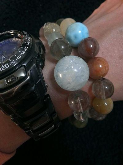 Bracelet Rutilated Quartz Quartz Bracelet Love Larimar Minerals Mineral Collection Japan Photography No People