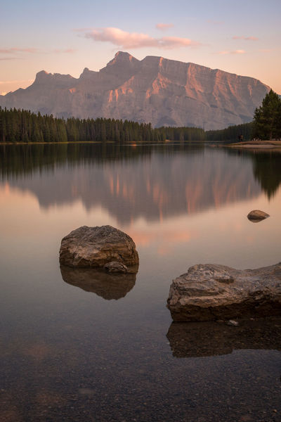 Beauty In Nature Day Lake Mountain Mountain Range Nature No People Outdoors Reflection Rock - Object Scenics Sky Sunset Tranquil Scene Tranquility Water