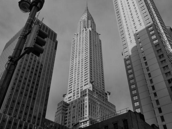 Chrysler Building New York City Architecture b&w street photography Black And White Building Building Exterior Built Structure City Day Development Financial District  Low Angle View Modern Nature No People Office Office Building Exterior Outdoors Sky Skyscraper Spire  Tall - High Tower Travel Destinations