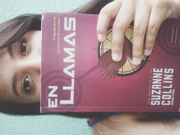 With my favorite book The Hunger Games Catching Fire Books ♥ Ily <3 Follow4follow