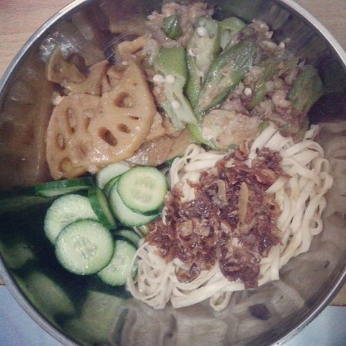 Dinner's up! Wholemealnoodles Vege Lotus Yummy dinnercloverleafdiary