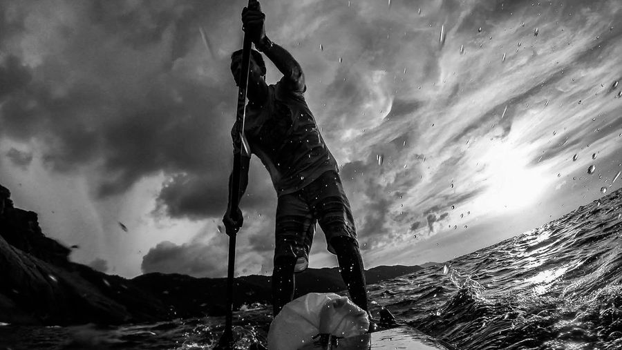 Paddlesurf That's Me Black & White Sea