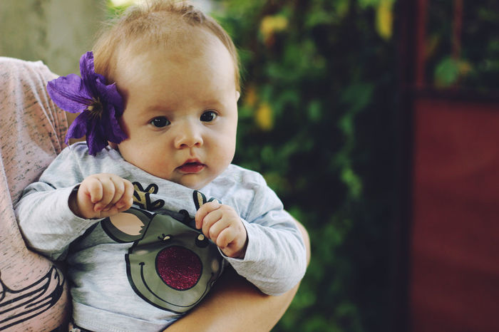Babies Only Baby Babyhood Childhood Close-up Cute Day Holding Innocence Looking At Camera One Person Outdoors Pacifier People Portrait Real People