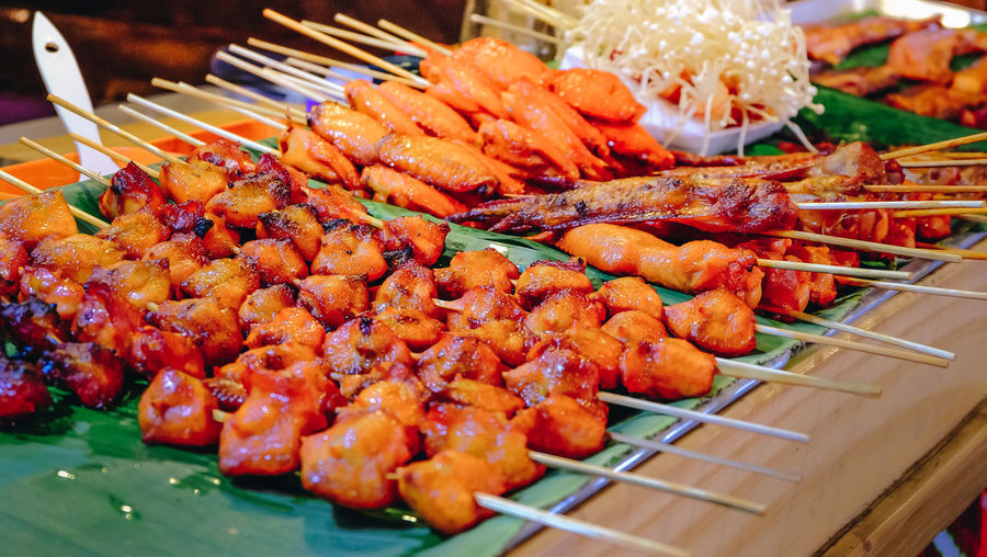 Chicken Grill Close-up Food Grilled No People Orange Color Ready-to-eat Snack Street Food