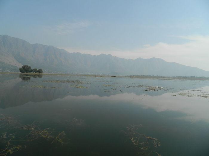 Kashmir Kashmirdiaries Beauty In Nature DalLake..❤ Reflection Mountain Landscape No People