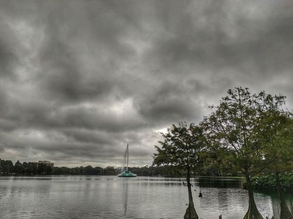 Cloudy morning at Lake Eola Park Tree Dramatic Sky Nature Cloud - Sky Weather Tranquility Beauty In Nature Outdoors Water Tranquil Scene Scenics No People City dow Been There. Perspectives On Nature
