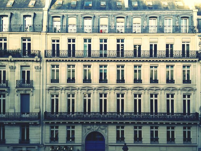 Paris France Old Buildings Houses Windows Opera House Elegance Beauty Facades Opposite View