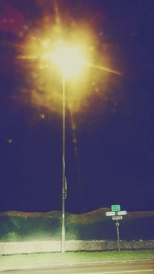 Nightphotography Street Light Sign Midnight Shots