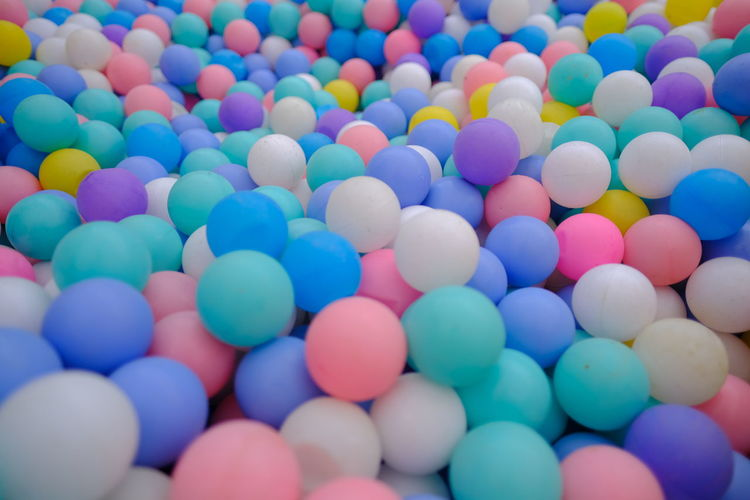 Full frame shot of multi colored balls