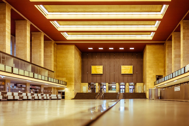 Interior of the historic airport Berlin-Tempelhof Airport Flughafen Tempelhof  Historic Building Historical Building Historical Buildings Historical Monuments Historical Place Indoors  Interiors Tempelhof Airport Tempelhofer Feld Tempelhoferfeld Architektur Architecture Architectural Detail
