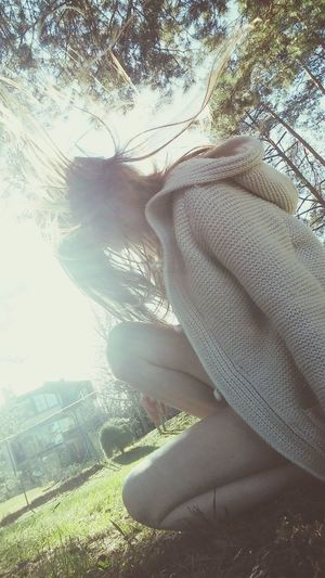 😜 Tree Sunlight One Person Day Leisure Activity Outdoors Close-up One Woman Only Grass Nature Only Women People Sky