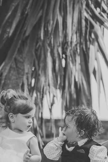 Love at the first sight.. People Togetherness Outdoors Happiness Child Party - Social Event Children Only Summer Canon 5d Mark Iv Fine Art Photography GREECE ♥♥ Childhood Friendship EyeEm Selects The Week On EyeEm