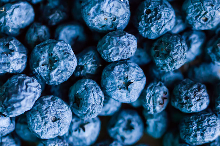 Full frame shot of dried blueberries