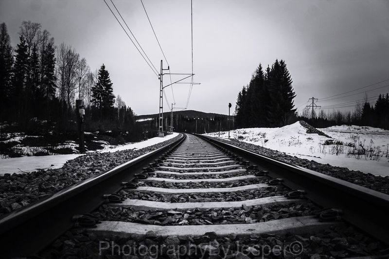 You won't fail if you follow the rail. Eyemphotography Monochrome OpenEdit Sweden Eyem Best Shots World Photography Blackandwhite Railway EyeEm Hello World EyeEm Gallery Europe EyeEm Best Edits EyeEm Best Shots