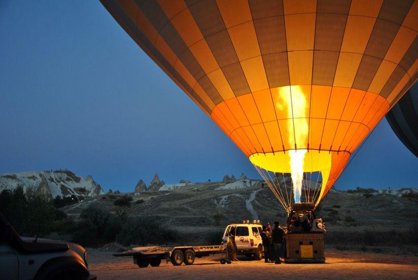 Hot Air Balloon Flying Ballooning Festival Turkey Kapadokya