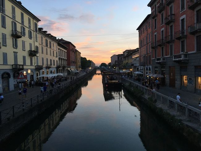 Travel Photography Sunset Navigli Milano