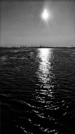 Sea Beauty In Nature Water Reflection Scenics Horizon Over Water Nature Sky Rippled Outdoors No People Astronomy Star - Space Day Black And White Waves Rolling In Dunare Galați Galati City Sunlight Danube River Waterfront Motion Sunlight And Shadow Sunset
