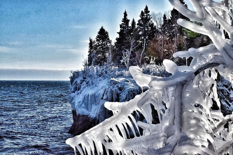 Lake Superior Check This Out Tree_collection  Backpacking Minnesota Nature Winter Trees Winter Wonderland Lakescape Winter Water Lakeview Icecicles Ice Lakeshore Winter_collection EyeEm Nature Lover EyeEm Best Shots - Nature Eye4photography  EyeEm Best Shots - Landscape
