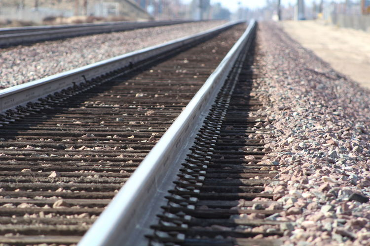 Close-Up Of Railroad Track