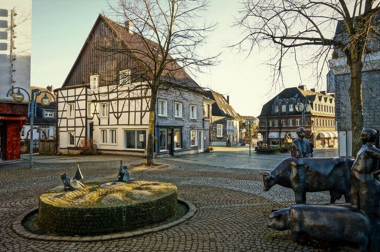 cattle market 2 Animal Themes Architecture Building Exterior Built Structure Clear Sky Day Framehouses Herdecke In Westphalia Mammal No People Old Cattle-market Old Town Square Outdoors Sky Small Town Tree Village Photography